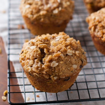 Gluten-Free Pumpkin Muffins Recipe with Cream Cheese Filling and Streusel Topping