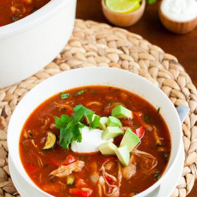 Gluten-Free Crock Pot Chicken Tortilla Soup Recipe
