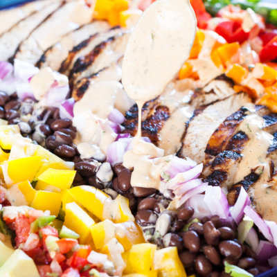 Southwest Cobb Salad with Smokey Chili Lime Dressing Recipe {Gluten-Free, Clean Eating}
